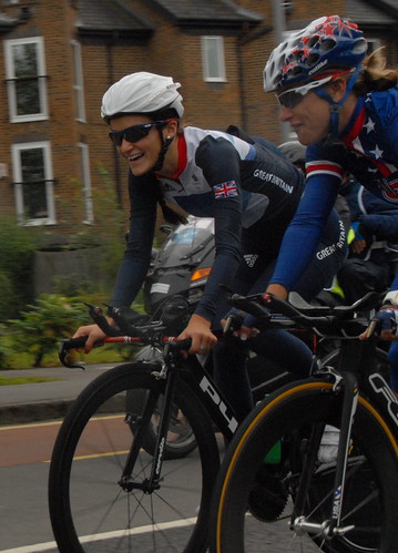 TeamGB's Lizzie Armitstead testing out the Olympic time trial route | by surreynews