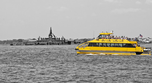 water taxi bw | by Alida's Photos