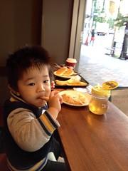 朝散歩 - スタバで朝御飯 (2012/11/4)