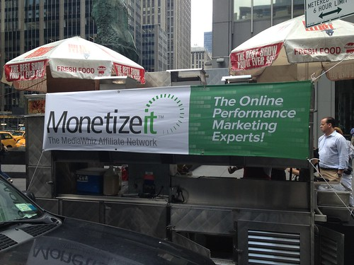 More MediaWhiz branding on a food cart | by MediaWhizInc