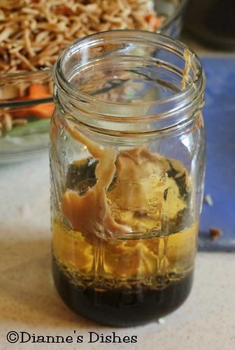 Asian Peanut Salad: Peanut Dressing Ready to Mix
