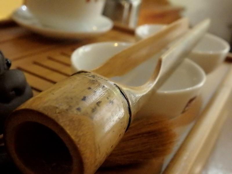 Csipesz, kendő, ecset, cha dao készlet
