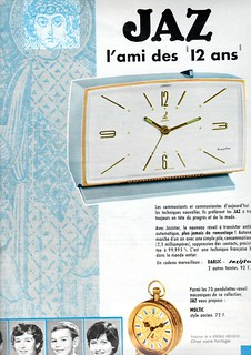 the 1960s-1966 ad for Jaz alarmclock | by april-mo