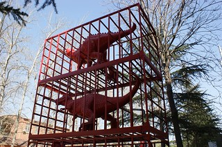 Red dinosaurs in a cage - is it really art? | by Ju1ian