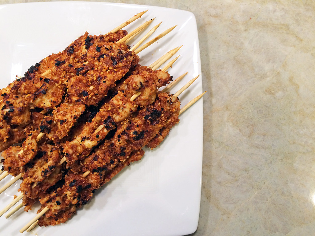 Suya (West African chicken kebabs)