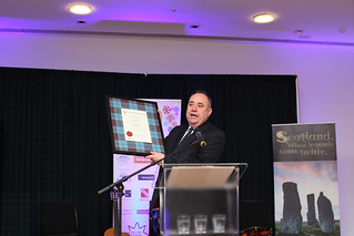First Minister Alex Salmond at the Drinks Reception at the Surgeon's Hall | by Edinburgh International Film Festival