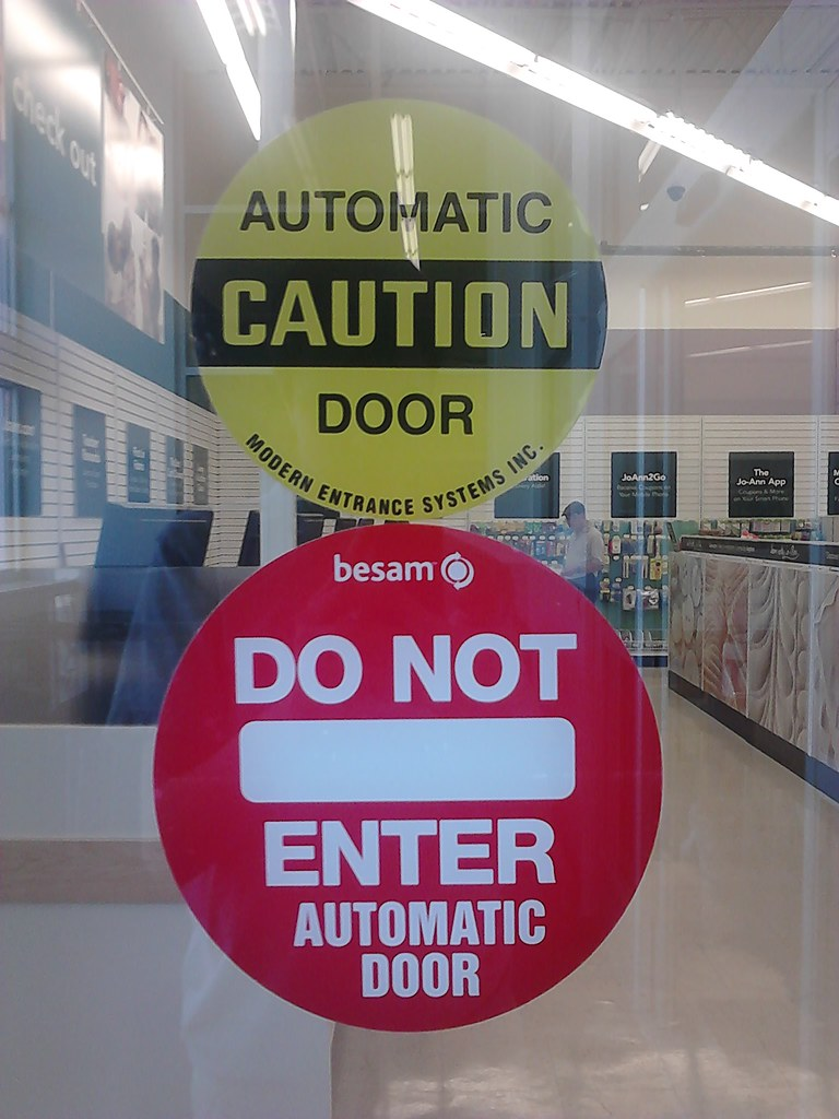 Automatic door decals flickr