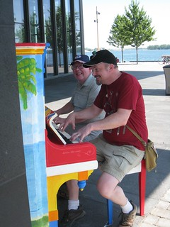 Ian and Tony at the sugar beach piano | by False Positives