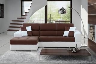 canape-d-angle-gauche-design-cuir-pu-blanc-et-microfibre-chocolat-madrid