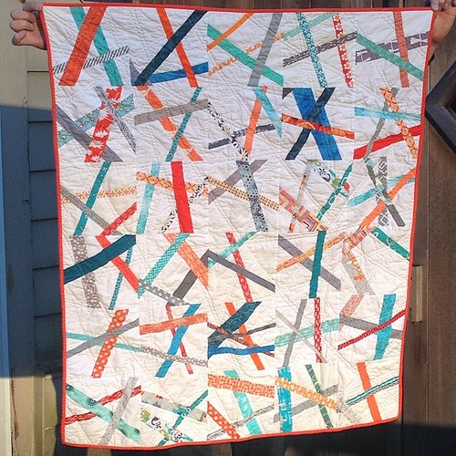 Finally able to take pics outside - and this looks so much better in natural light.  Shattered quilt for #sewquiltgive .  @sunnyincal this will be on its way to you tomorrow. | by 7craftycats