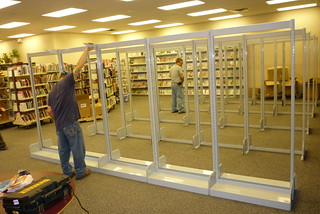 Installing New Shelves | by Greene County Public Library