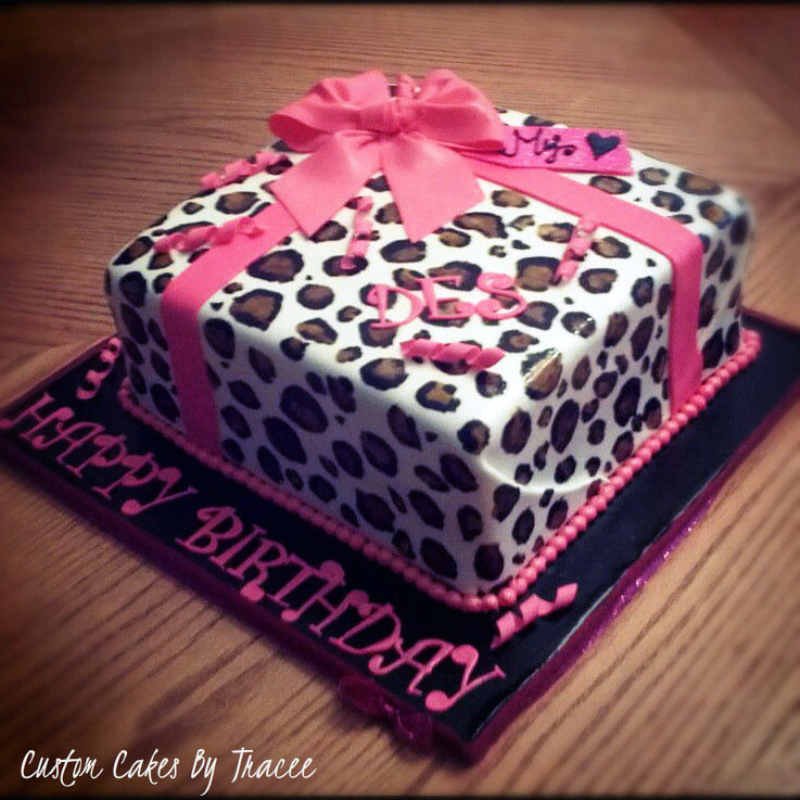 Leopard Print Present Cake For Destinee This Cake Was Orde Flickr