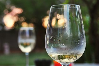 A Chilled Chardonnay + Temperature of 108 Degrees = Condensation | by merriewells