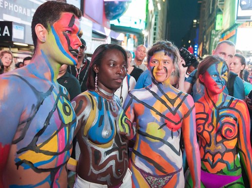 Body Painting by Andy Golub with YNA in Times Square