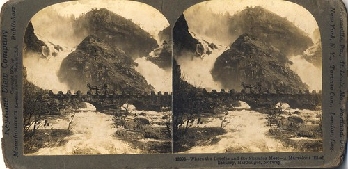 Where the Lotefos and the Skarsfos meet - a marvellous bit of scenery, Hardanger, Norway circa 1906 | by Aussie~mobs