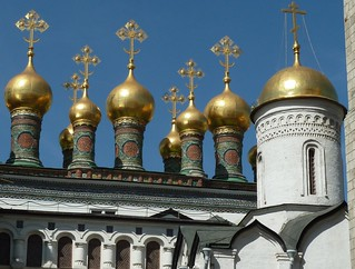 Moscow, Russia, Kremlin Golden Domes | by Mary Warren (9.0+ million views)
