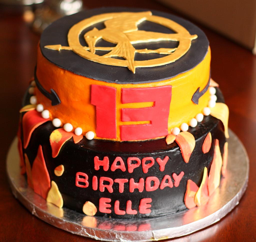 Cool Hunger Games Cake Paula Hennig Flickr Funny Birthday Cards Online Elaedamsfinfo