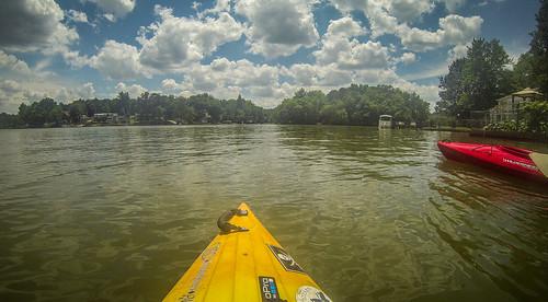 Kayaking and SUP on Saluda Lake-62