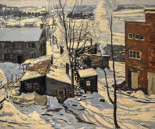Walter Elmer Schofield - The Powerhouse, Falls Village, Connecticut, 1914 at Institute of Art Chicago IL | by mbell1975