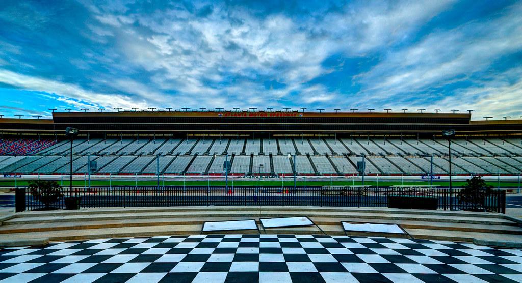 Victory Lane at Atlanta Motor Speedway   Taken from Victory …   Flickr