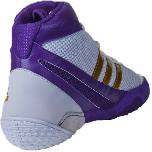 Purple And Gold Adidas Wrestling Shoes