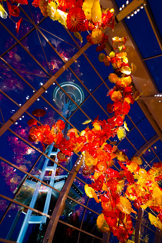 Chihuly and Space Needle | by tylermielnichuk