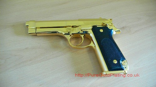 Gold Plated Beretta a | by PureGoldPlating