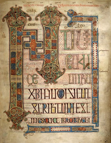 Lindisfarne Gospels -- Mark | by manuscript_nerd