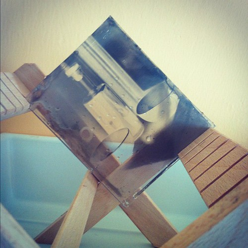 My first #ambrotype test shot on the drying rack... Not great but not a total disaster either... #analog | by Jonathan