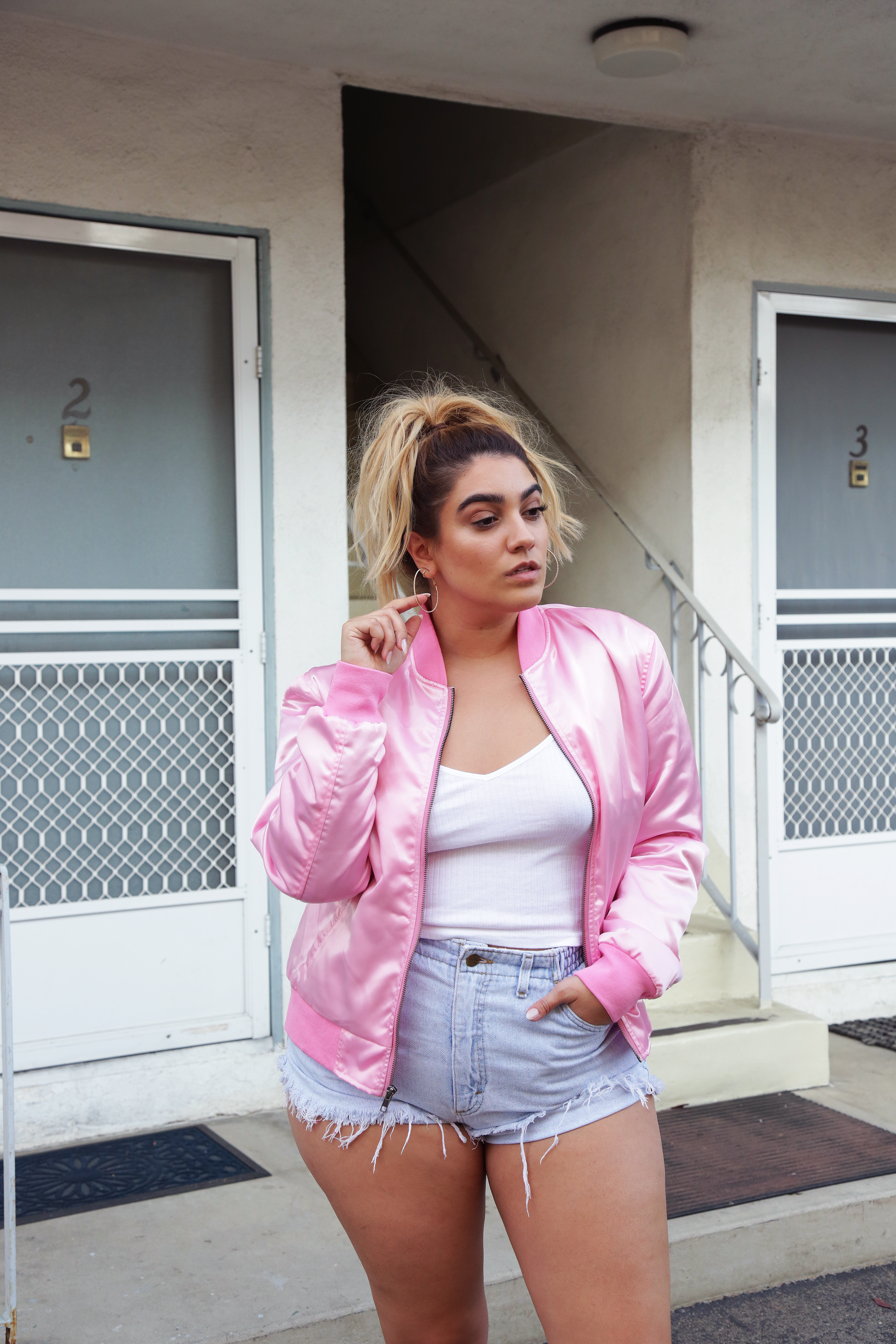 nadia aboulhosn pink bomber