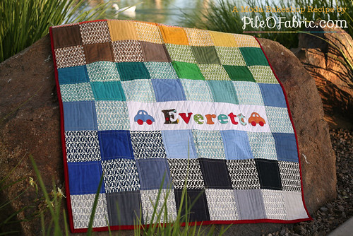 Easy Pezzy Crib Quilt by Pile O' Fabric | by PileOFabric