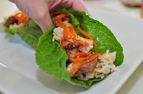 Sesame Beef Lettuce Wraps | by meghensley