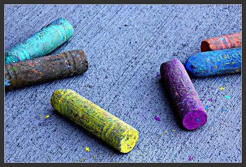six colored chalk | by krismc2011