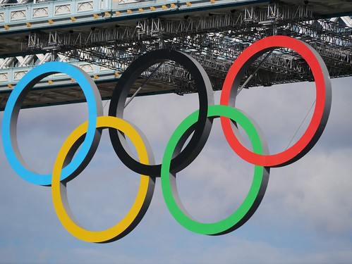 Olympic Rings on Tower Bridge | by Jon Curnow