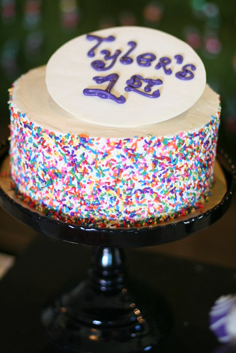Sprinkled Smash Cake for Willy Wonka Party | by Sweet Lauren Cakes