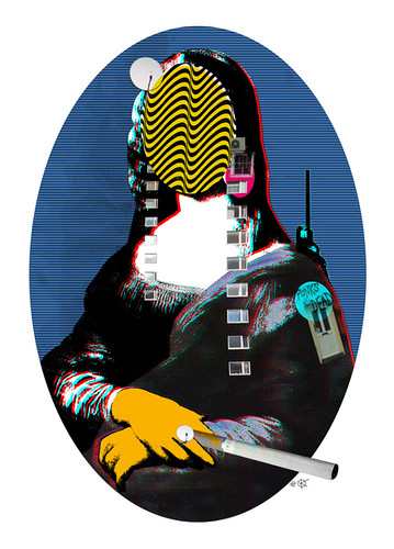 Mona Lisa StreetPopArt - Blue Version | by Die blauen Reiter