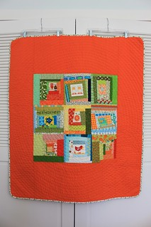 """Orange Animal Quilt"" 