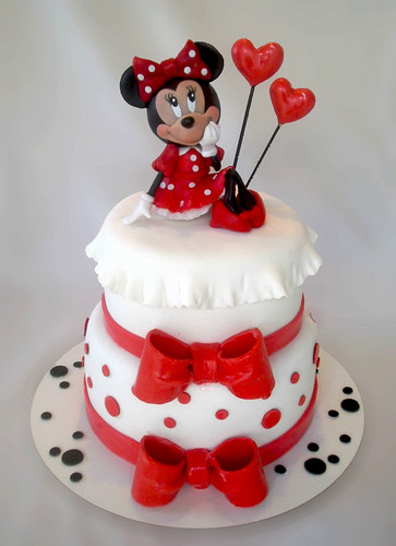 Torta Minnie Mouse Torta De Dos Pisos Con Mo 241 Os Y