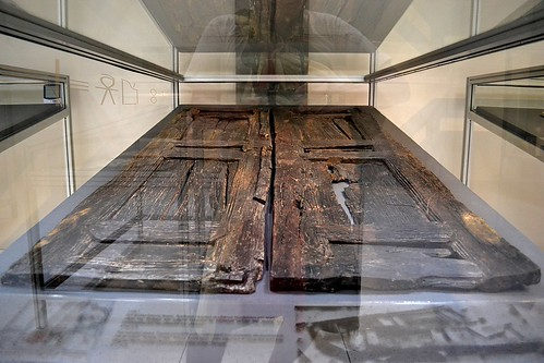 "Wooden Doors off the ""Temple of Isis"", Kenchreae, Isthmia Museum, July 2011 