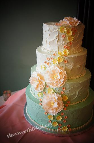 Blue And Yellow Wedding Cakes