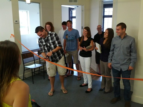 It's official: Here's the team and the ribbon-cutting ceremony! | by Stack_Exchange