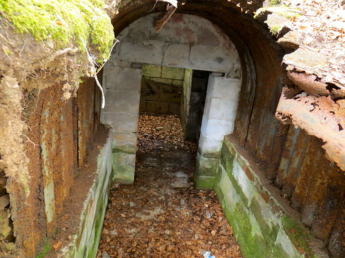 Ww2 Bunker Looking Down Via A Collapsed Roof Into The