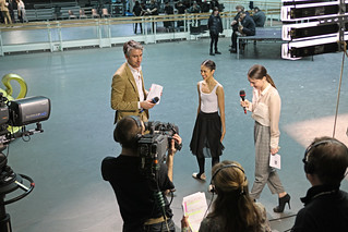 George Lamb and Kristen McNally interviewing Beatriz Stix-Brunell at Royal Ballet Live © ROH 2012 | by Royal Opera House Covent Garden