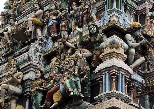 The tower(gopuram) of a typical Hindu temple Sri Lanka Colombo | by Mal B