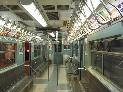 old subway car with bench seats and air conditioning flickr. Black Bedroom Furniture Sets. Home Design Ideas