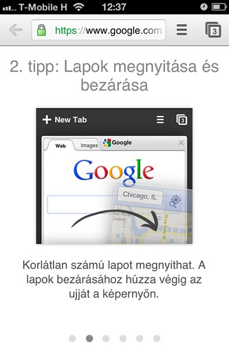 Google Chrome iOS-en #7 | by HUP.hu