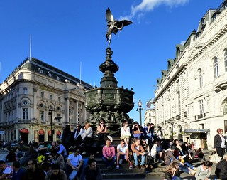 London, England Piccadilly Circus ~ Shaftesbury Monument | by army.arch