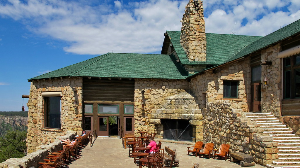 Grand Canyon Lodge main patio North Rim An uncrowded m Flickr