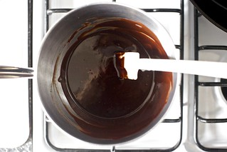 melting the chocolate and butter | by smitten kitchen