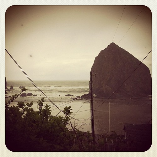 We drove a lot yesterday, and saw trees, trees trees and more trees. And also Haystack Rock as seen in The Goonies. | by Hearts and Laserbeams